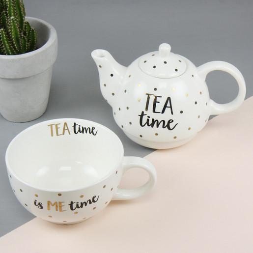 Sass /& Belle /'Tea Time/' Tea for One Teapot Set