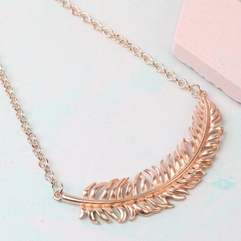 galeiras necklace double rose gold chain clover