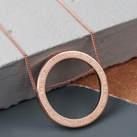 Personalised longline large silver circle necklace lisa angel personalised longline large circle pendant necklace aloadofball Image collections