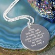 Personalised Machine Engraved Silver Disc NecklacePersonalised Machine Engraved Silver Disc Necklace