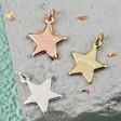 Lisa Angel Personalised Hand-Stamped Star Bracelet Charm