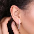 Lisa Angel Ladies' Diamante Bar Stud Earrings in Silver