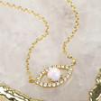 Lisa Angel Ladies' Opal Eye Pendant Necklace in Gold