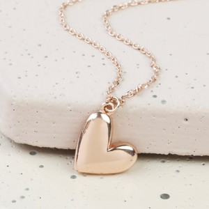 Rose Gold 3D Heart necklace