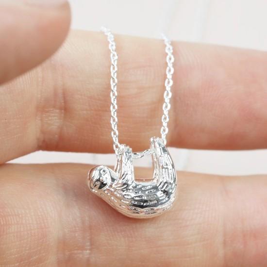 Silver Sloth Necklace