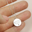 Lisa Angel with Ladies' Estella Bartlett 'She Believed She Could' Pendant Necklace