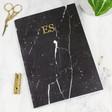 Lisa Angel Personalised Black Marble A5 Notebook