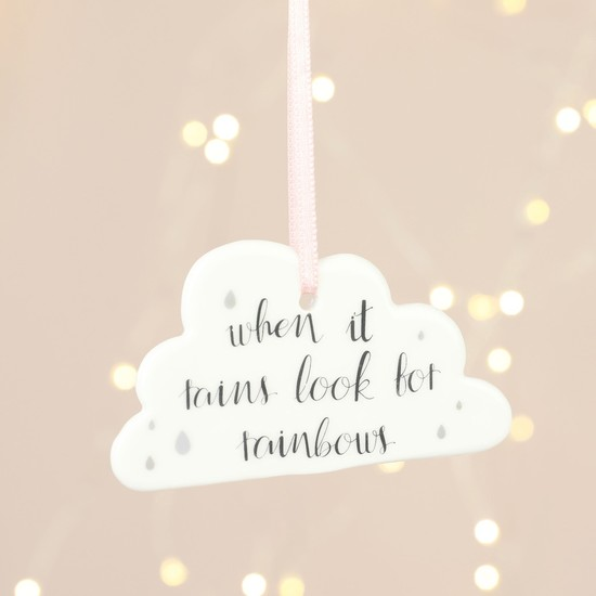 'Look for Rainbows' Cloud Hanging Decoration