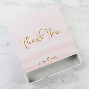 Pink 'Thank You' Gift Box