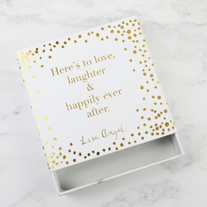 Polka Dot 'Happily Ever After' Gift Box