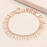 Delicate Bar Charms Anklet in Rose Gold