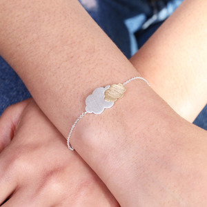 Silver and Gold Cloud Bracelet