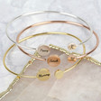 Lisa Angel Ladies' Personalised Double Disc Bangle