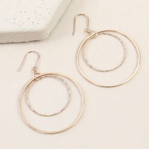 Double Circle statament earrings in Rose Gold