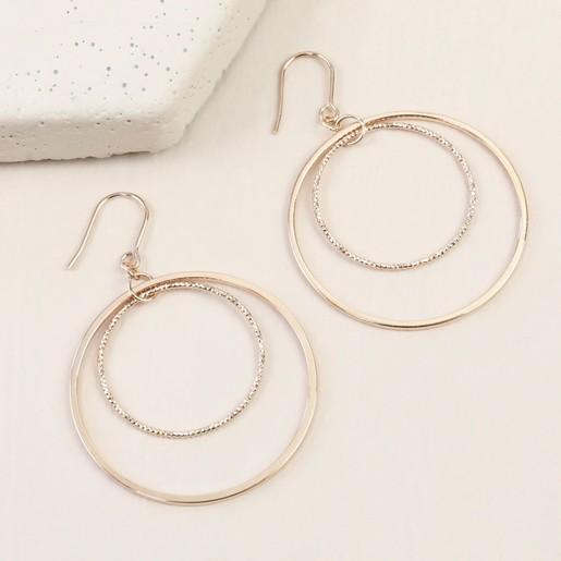 55015b05f Rose Gold Double Circle Hook Earrings | Lisa Angel Jewellery