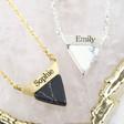 Ladies' Howlite Triangle Pendant Necklaces