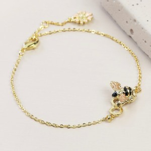 Honeycomb Bumblebee Bracelet in Gold