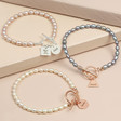 Lisa Angel Ladies' Personalised Handmade Pearl and Toggle Bracelet