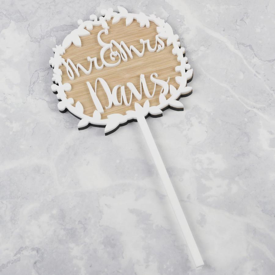 Handmade Personalised \'Mr & Mrs\' Acrylic Wedding Cake Topper   Lisa ...