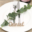 Lisa Angel Wedding Personalised Glitter Name Place Settings