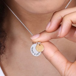 Personalised Sterling Silver Double Disc Pendant Necklace e3f22c77a