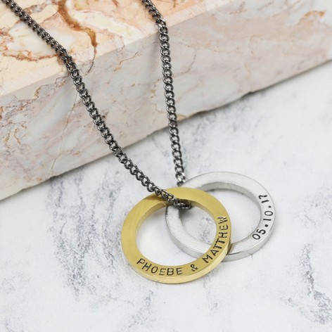 Personalised hoop pendant necklace for him lisa angel mens personalised hoop pendant necklace aloadofball Choice Image
