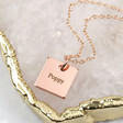 Teens' Personalised Square Charm Necklace