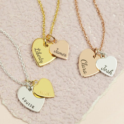Necklaces for women ladies jewellery lisa angel uk personalised vermeil double heart pendant necklace aloadofball Choice Image