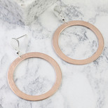 Silver and Rose Gold Circle Statement Drop Earrings