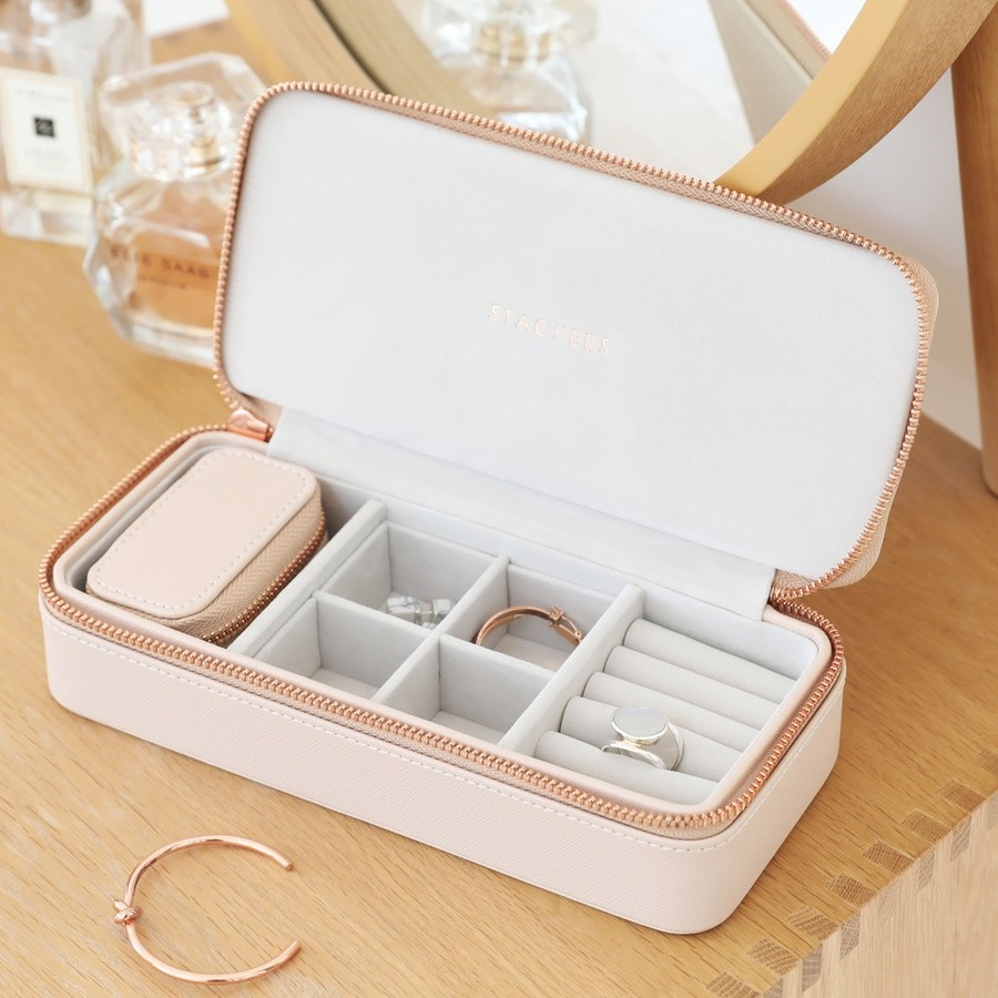 Stackers blush pink large jewellery travel box lisa angel for Stackers jewelry box canada