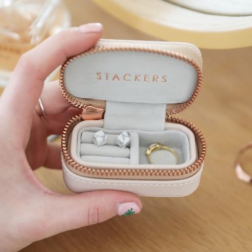 Stackers Blush Pink Petite Jewellery Travel Box