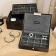 Men's Stackers Mini Jewellery Box Lid in Black