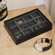 Lisa Angel Men's Stackers Mini 11 Section Jewellery Tray in Black