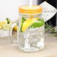 Lisa Angel Engraved 'Mum is Where The Gin Is' Mason Jar