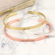 Ladies' Personalised Delicate Bar Bangle