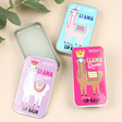 Lisa Angel Llama Queen Lip Balm Tin