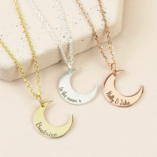 """Sterling Silver Crescent Moon Heart Star Best Friend Charm Pendant Necklace 18/"""""""