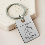 Personalised Sterling Silver 'Father's Day' Tag Keyring