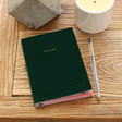 Lisa Angel Personalised Green Velvet 'Stuff' Notebook