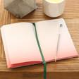 Inside of Personalised Green Velvet 'Stuff' Notebook