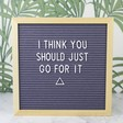 Lisa Angel Unisex 'The Noel' Felt Letter Board in Grey