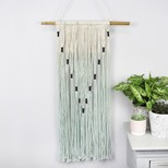 Turquoise and Cream Rope Wall Hanging