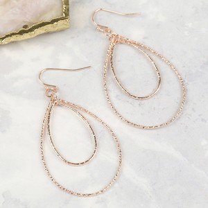Sparkly Rose gold Drop Earrings