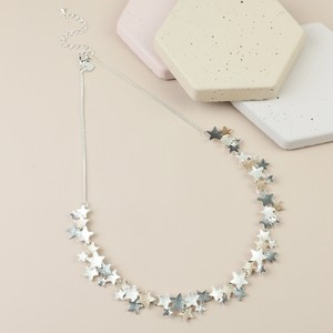 Mixed Metal Stars Short Necklace