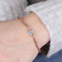 d57a8e2cbd361a Multi-Strand Heart Bracelet in Grey and Rose Gold