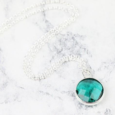 Birthstone pendant necklace lisa angel delicate jewellery birthstone pendant necklace aloadofball Choice Image