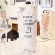 Lisa Angel Paper Personalised Birthday Marble Effect Bottle Bag