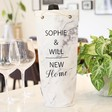 Lisa Angel Paper Personalised 'New Home' Marble Effect Bottle Bag