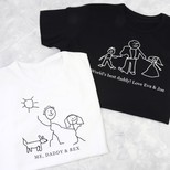 Men's Personalised 'Your Drawing' Slim Fit T-Shirt