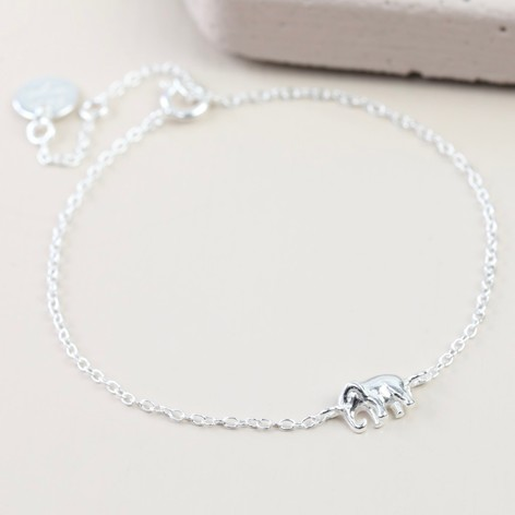 hzman vintage silver plated elephant com bracelet dp my lucky style resizable amazon alloy